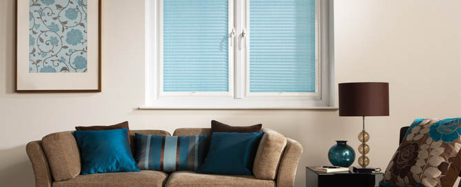 Pleated Blinds at Ledbury carpets for hereford, Ledbury , Malvern and beyond