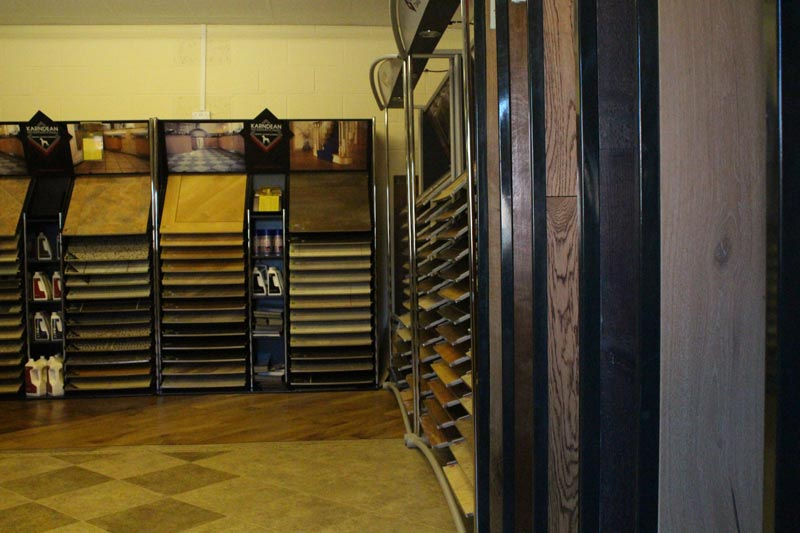 Karndean and wood flooring department at Ledbury Carpets & Interiors, Herefordshire