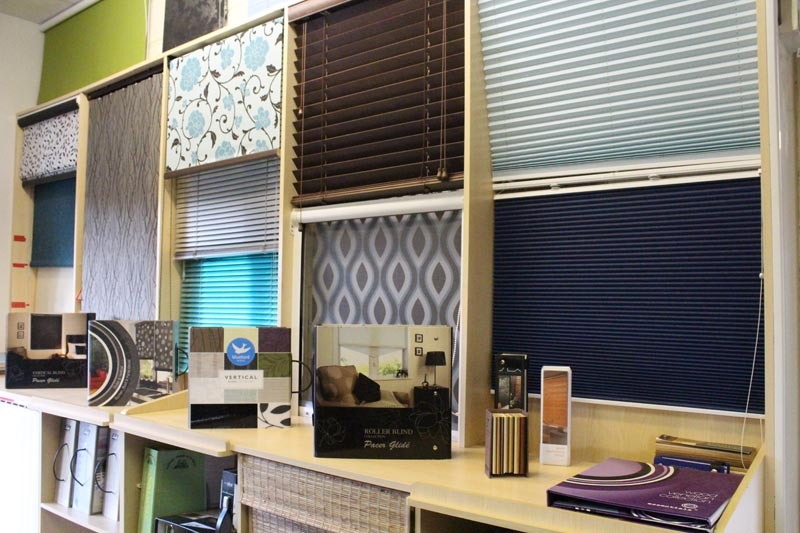 Bluebird Blinds department at Ledbury Carpets & Interiors, Herefordshire