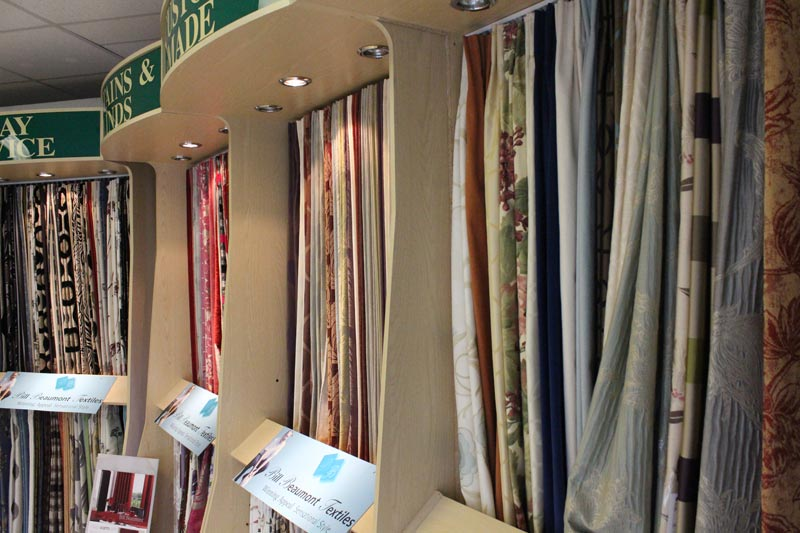 Bill Beaumont Textiles Curtains department at Ledbury Carpets & Interiors, Herefordshire
